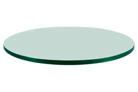 24 Round Glass Table Top, 1/4 Thick, Flat Polish Edge, Tempered Glass