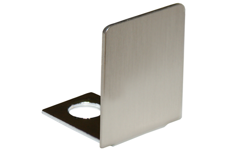 Brushed Nickel End Cap For 1 2 Quot Deep U Channel Dulles