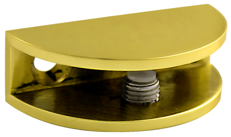 Brass Rounded Glass Shelf Bracket Dulles Glass And Mirror