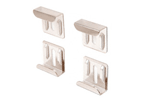 "Nickel Plated ""J"" Mirror Clip Set"