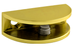 Brass Rounded Glass Shelf Bracket