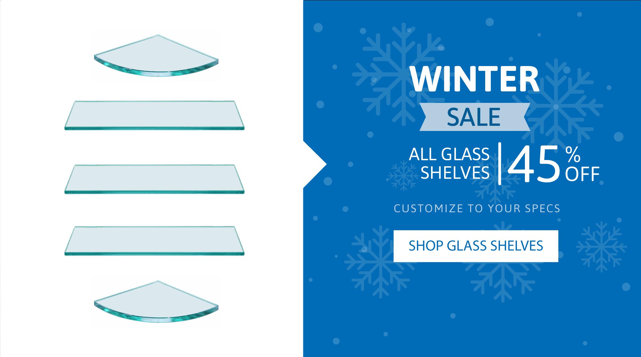 custom glass shelves