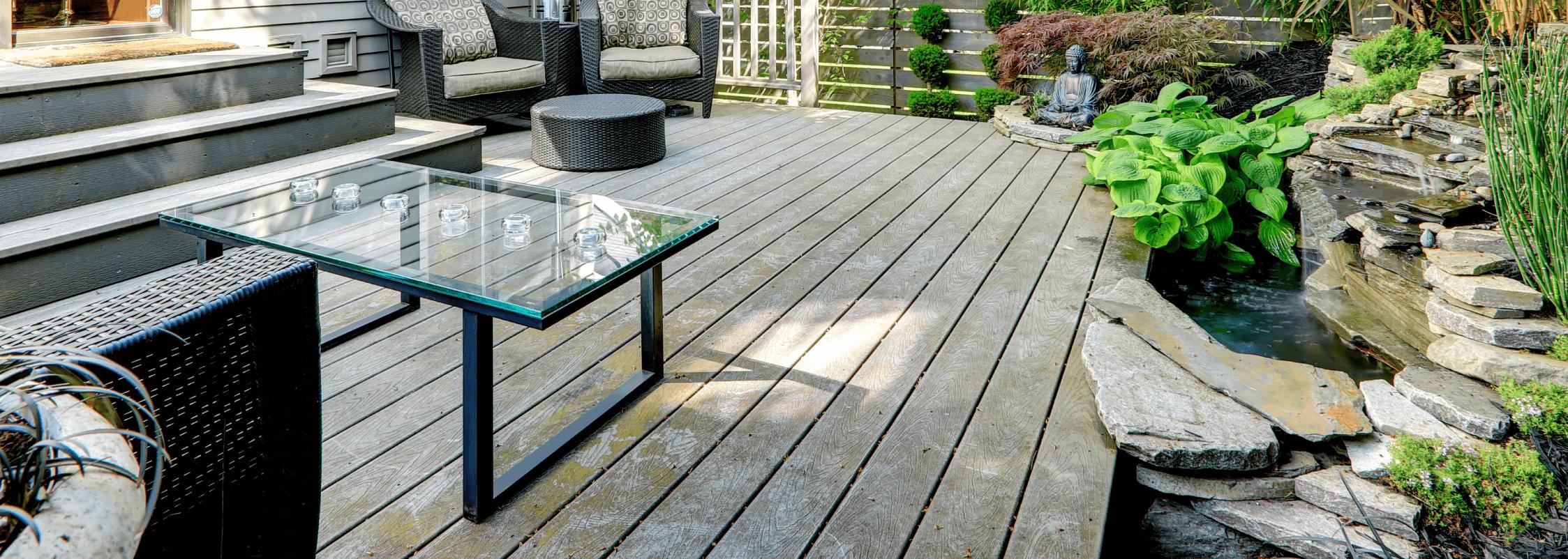 Custom-made glass patio table top
