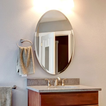 Beveled Bathroom Mirror