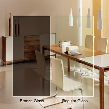 Bronze Glass Custom Cut Dulles Glass And Mirror