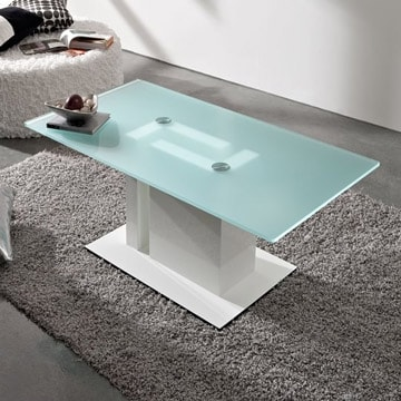 Opaque-Clear glass table top lazyload