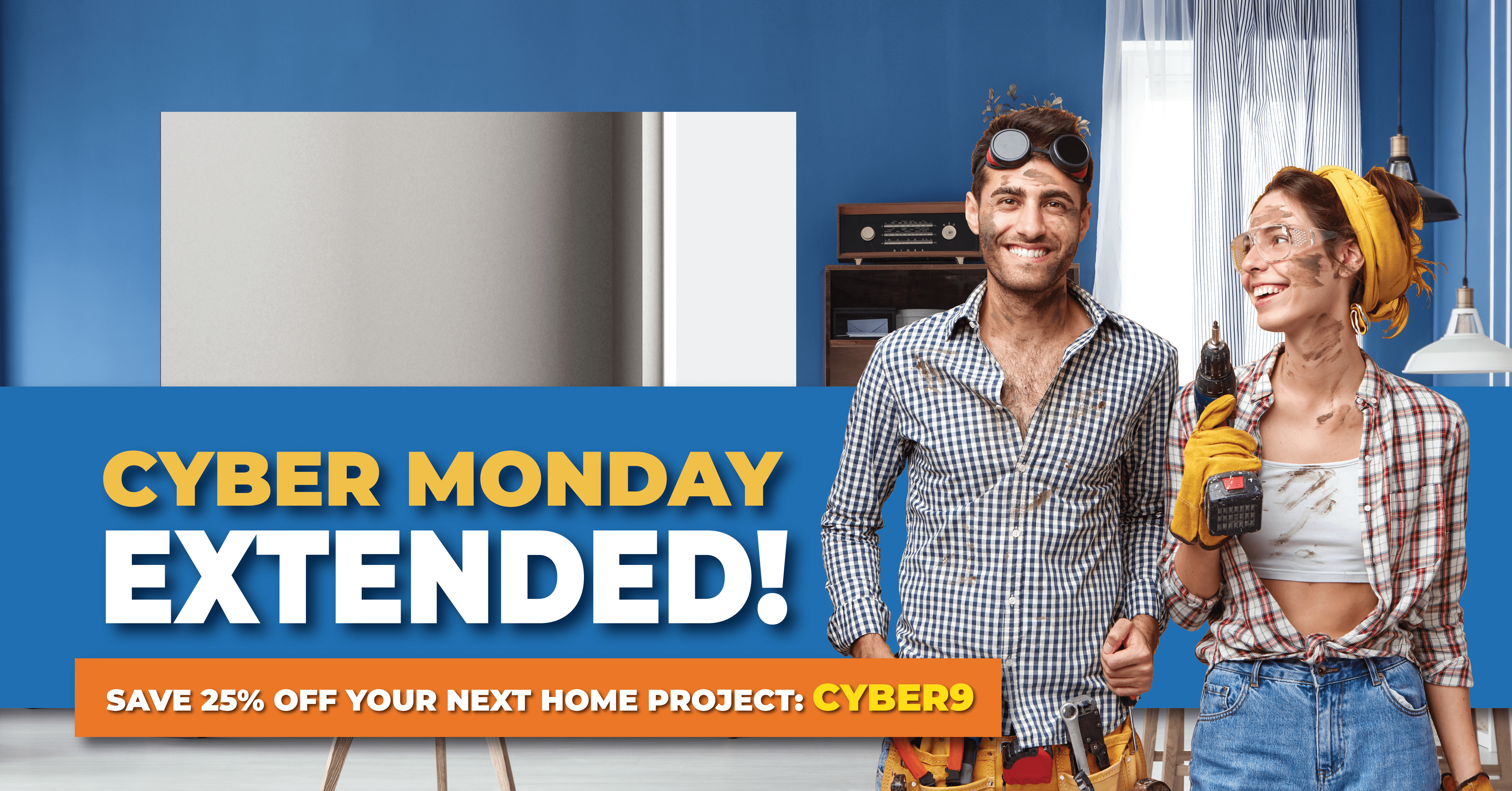 25% off and free shipping for Cyber Monday!