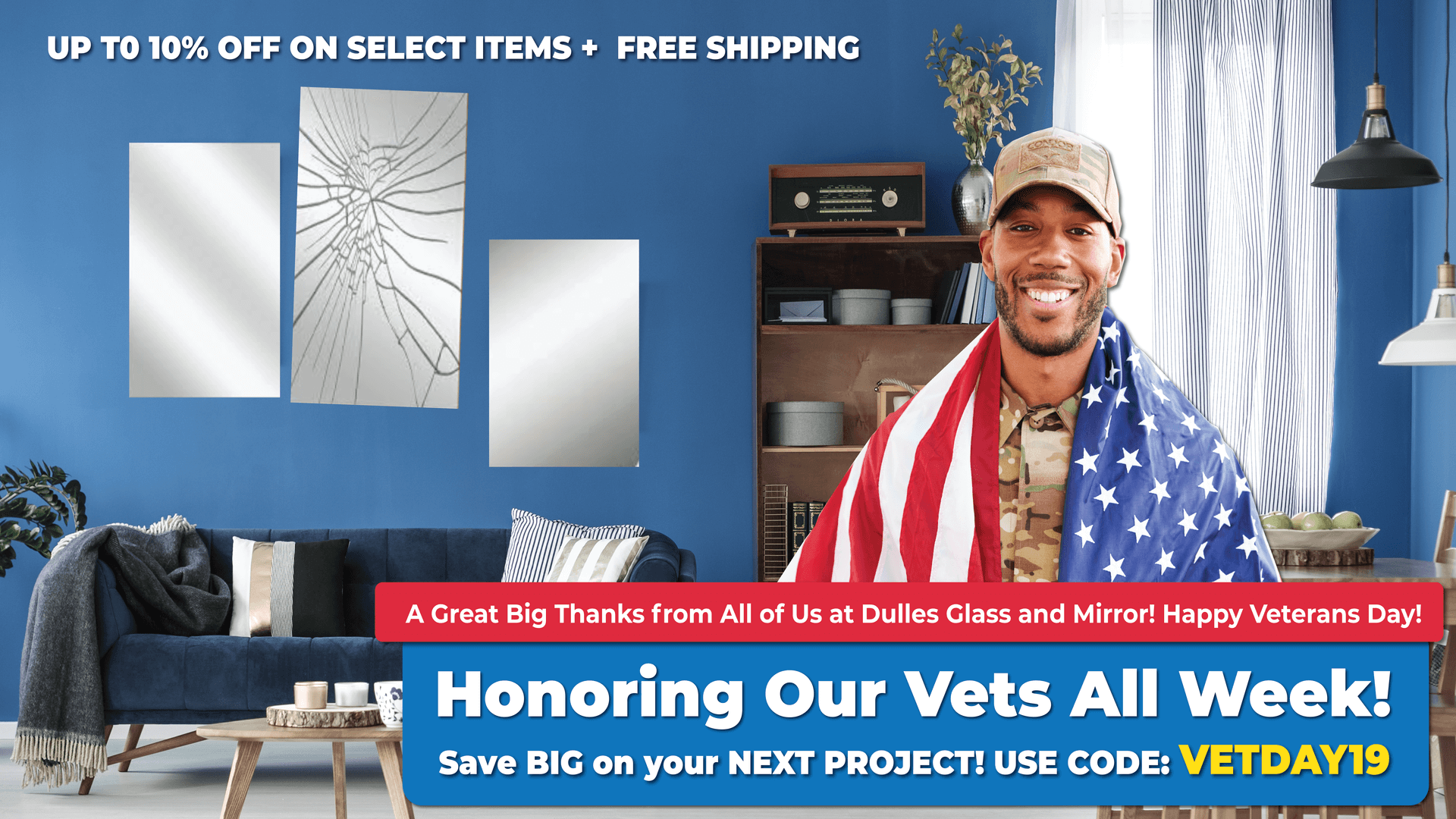 Up to 10% off select items and free shipping in November!