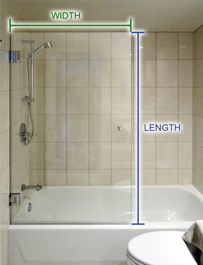 How to Measure Bathtub Screen