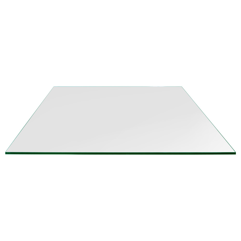 24x36 Inch Rectangle Glass Table Top, 1/4 Inch Thick, Flat Polished, Eased Corners, Tempered