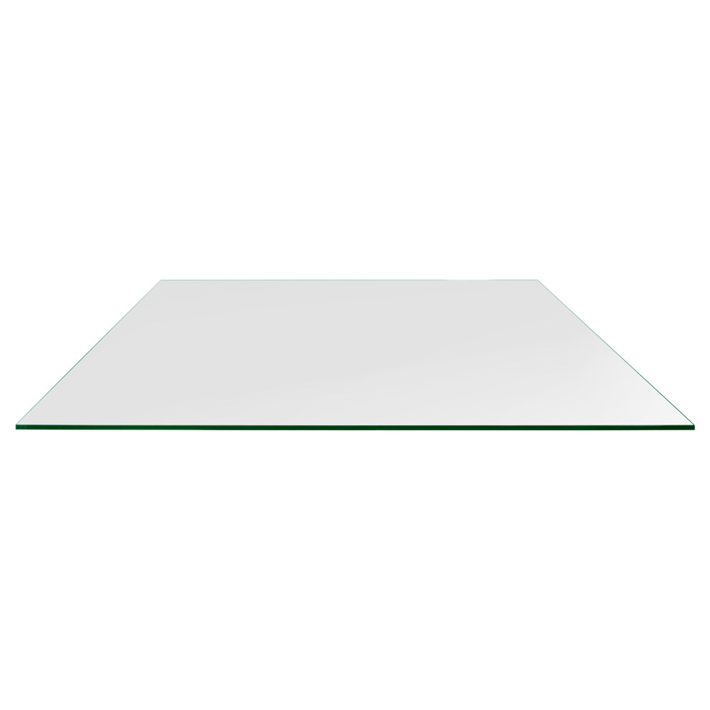 24x48 Inch Rectangle Glass Table Top, 1/4 Inch Thick, Flat Polished, Eased Corners, Tempered