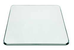 24 Inch Square Glass Table Top, 3/8 Inch Thick, Pencil Polish Edge, Radius Corners, Tempered