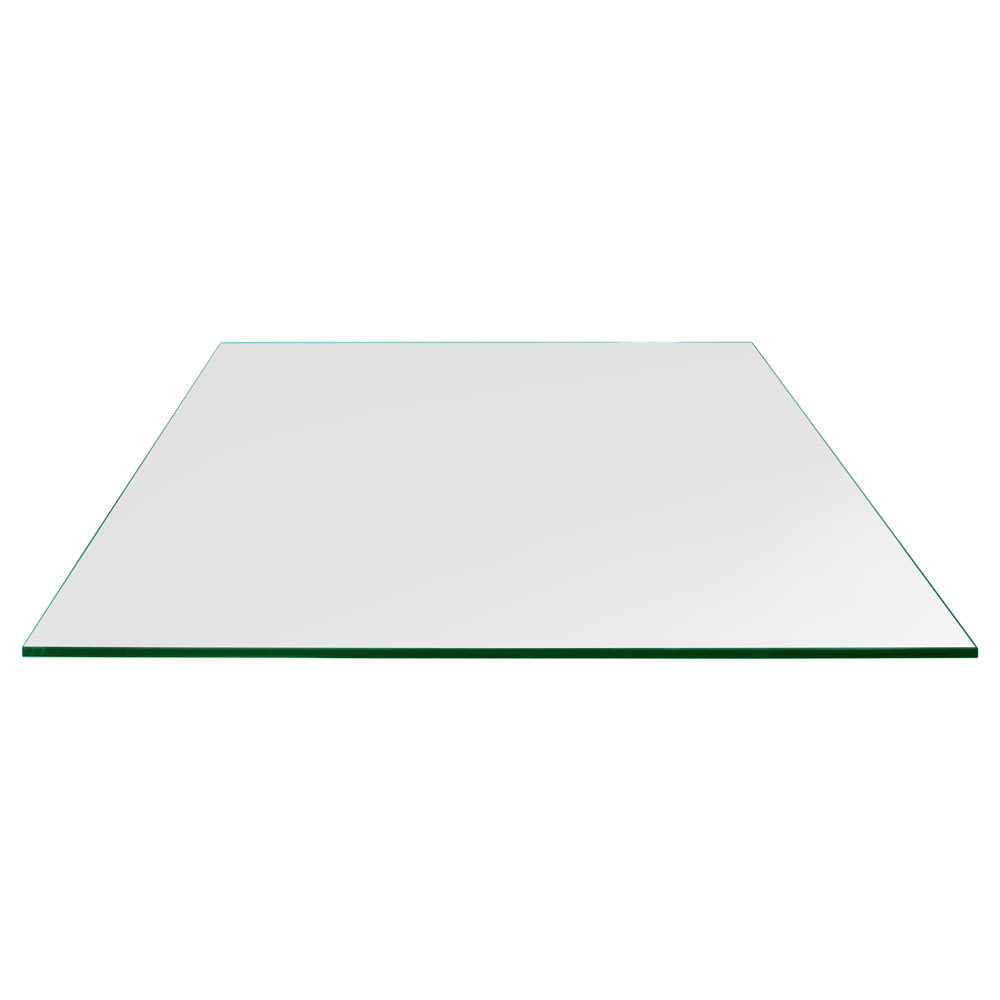 36x48 Inch Rectangle Glass Table Top, 1/4 Inch Thick, Flat Polished, Eased Corners, Tempered