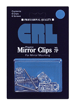 1/4 Standard Plastic Mirror Clip - Display Package