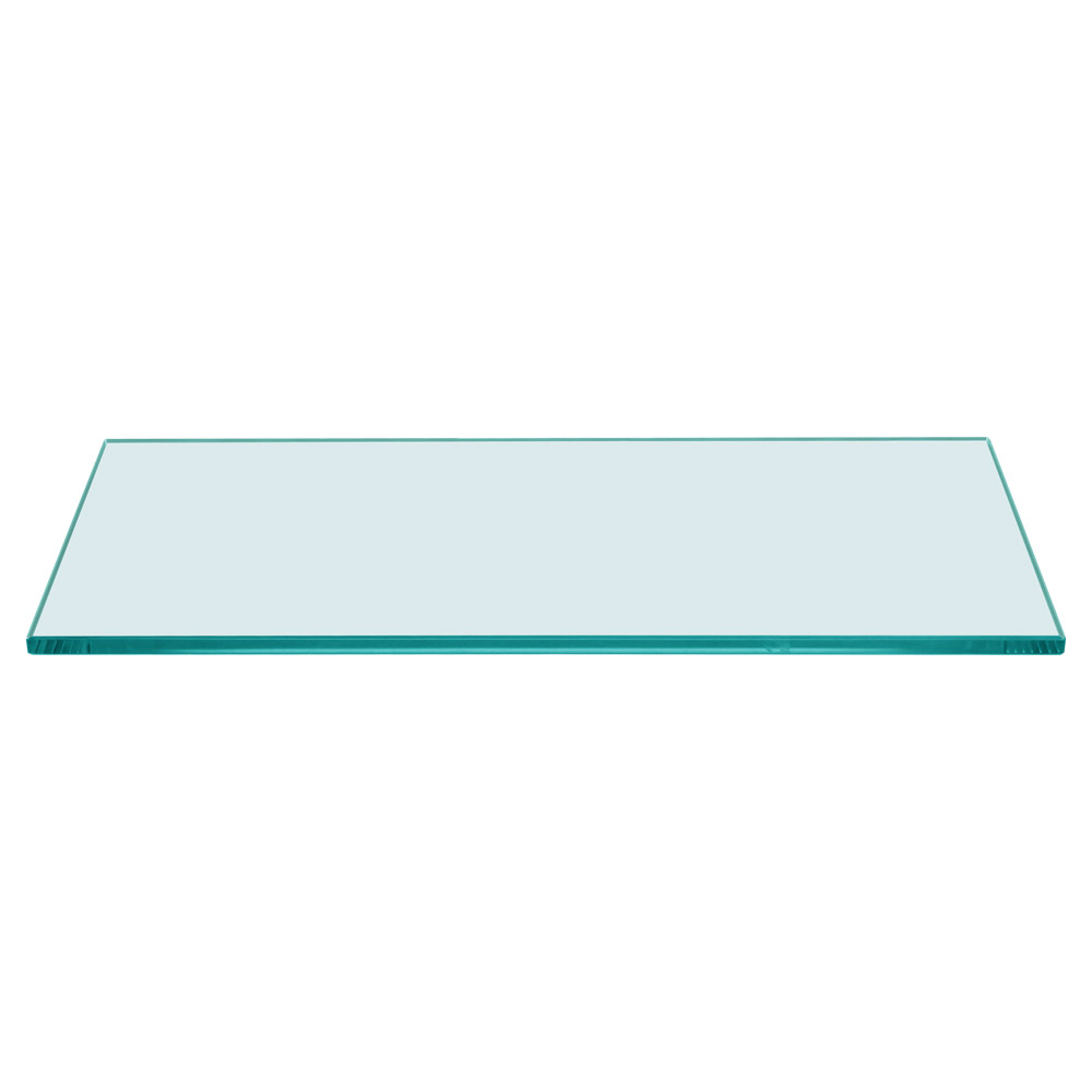 """12/"""" x  24/"""" Rectangle 3//8/"""" Clear Tempered Glass Shelf"""