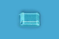 Clear Rubber Desk Bumpers w/ Adhesive 10.2mm x 2.5mm Square