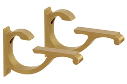 Brushed Brass Designer Aluminum Shelf Brackets