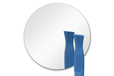12 Inch Round Mirror: 1/4 Inch Thick, Flat Polish Edge (10 ea. in 1 box)