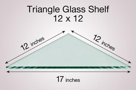 Triangle Glass Shelf 12 x 12