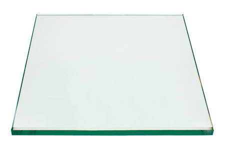 18 Inch Square Glass Table Top, 1/4 Inch Thick, Flat Polished, Eased Corners, Tempered