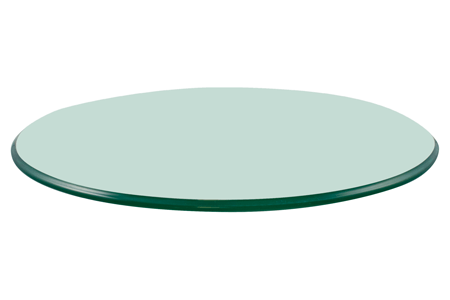 "18"" Round Glass Table Top, 3/8"" Thick, Pencil Polished, Tempered"