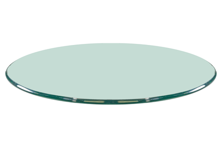 24 Round Glass Table Top, 1/2 Thick, Ogee Polished