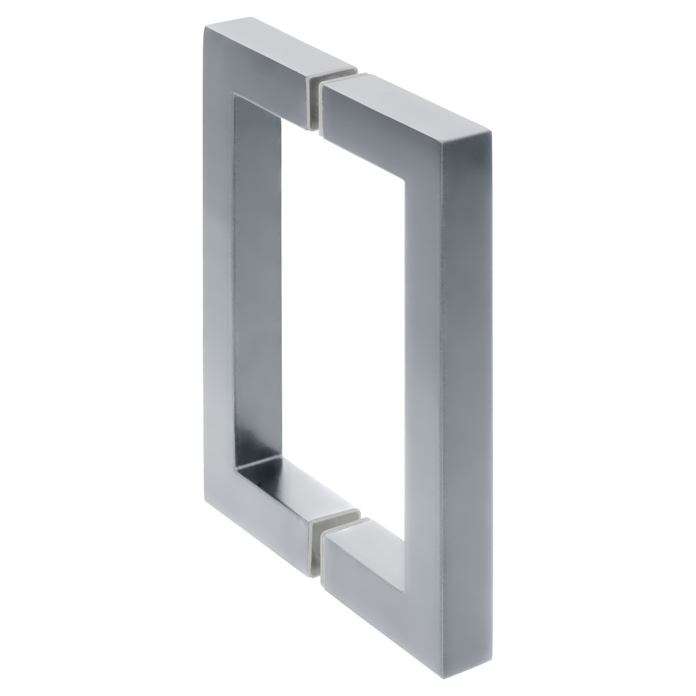 "6"" Square Shower Door Handle - Polished Chrome"