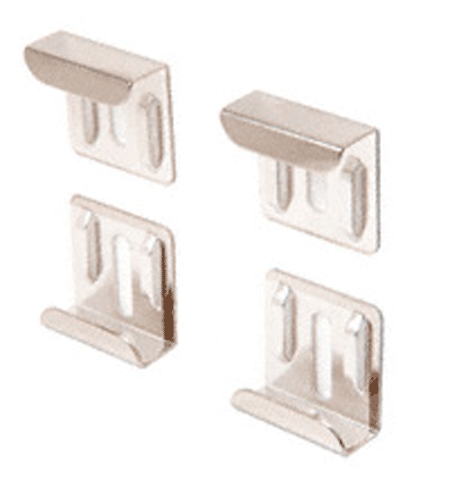 Nickel Plated J Mirror Clip Set