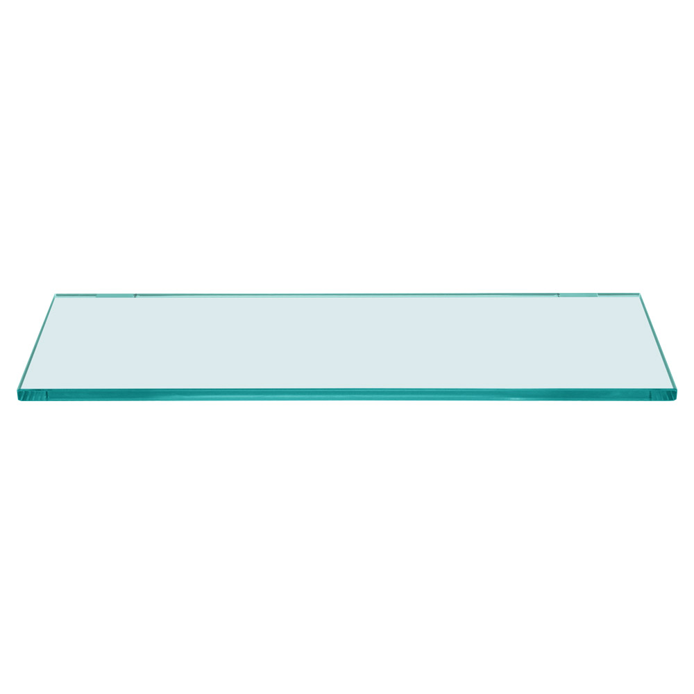 Rectangle Floating Glass Shelf 6 x 18