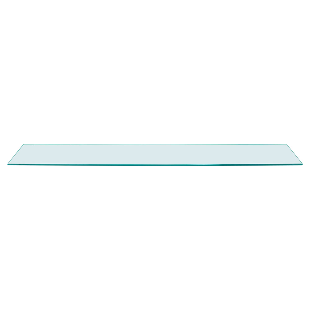 Rectangle Floating Glass Shelf 6 x 36 Inch, 1/4 Inch Thick