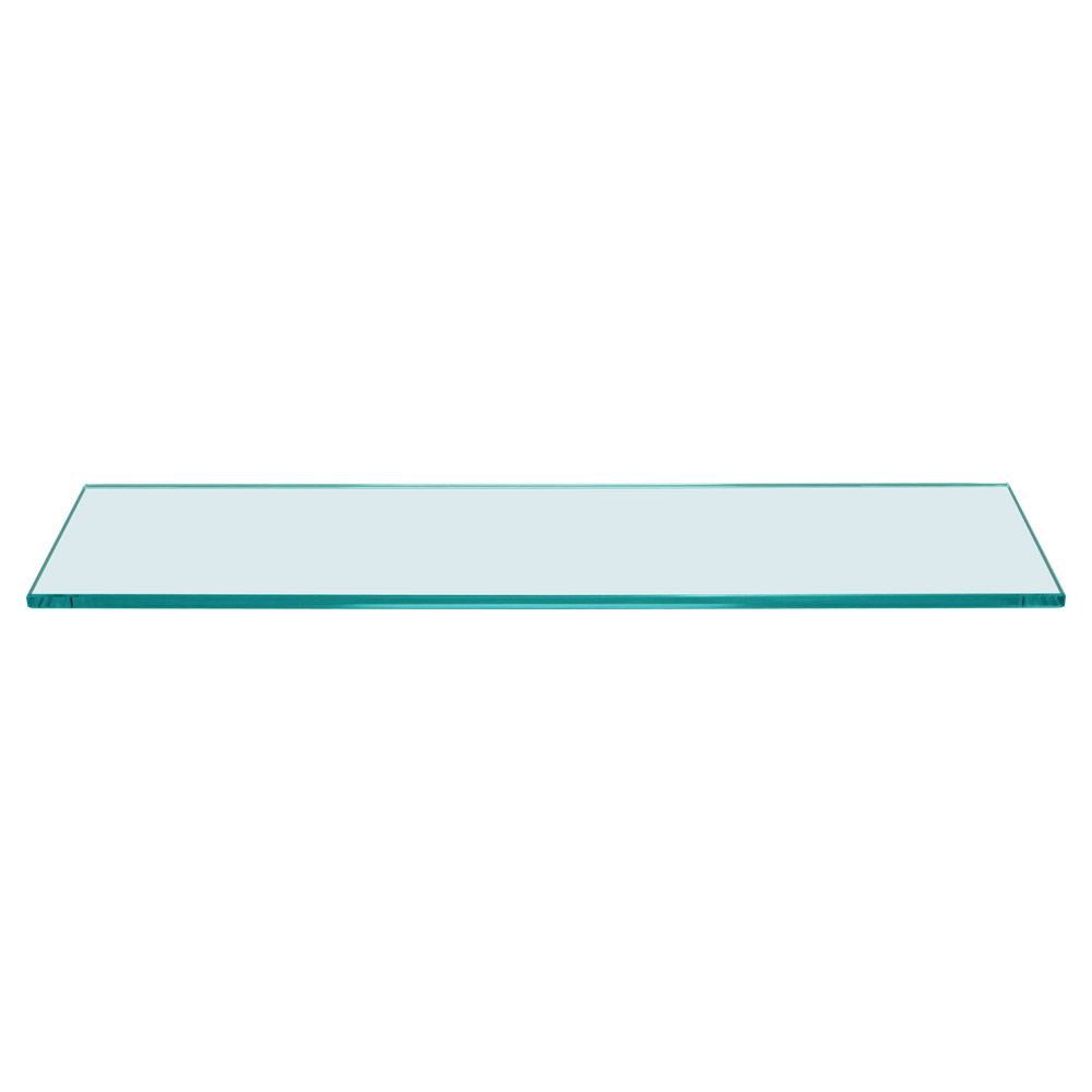 Rectangle Floating Glass Shelf 8 x 24