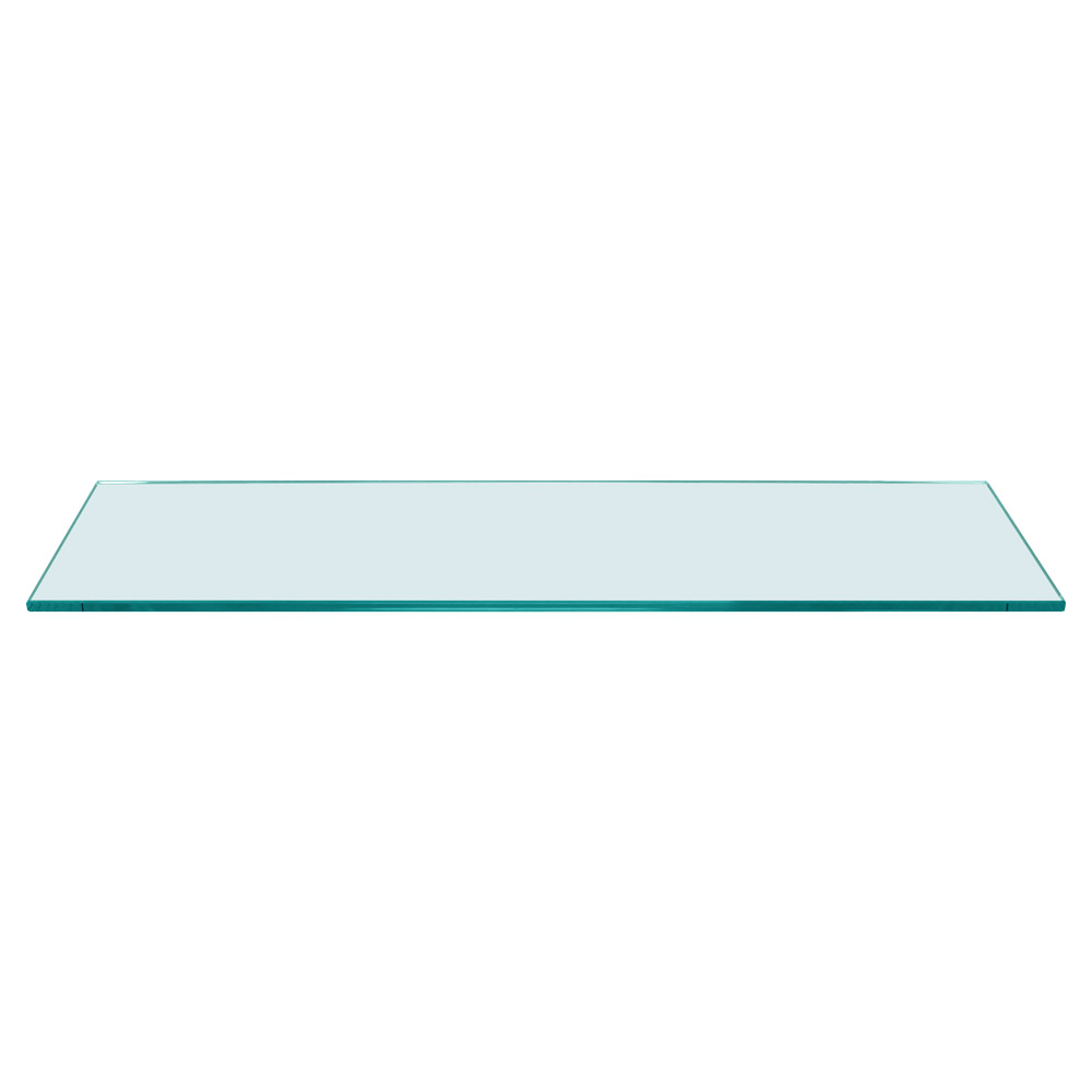 Rectangle Floating Glass Shelf 8 x 36