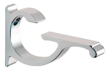 Chrome Designer Aluminum Shelf Brackets