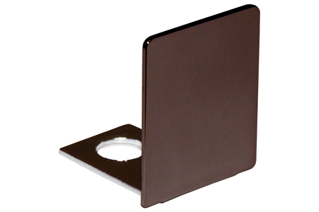 Oil Rubbed Bronze End Cap for 1/2 Deep U-Channel