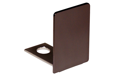Oil Rubbed Bronze End Cap for 3/8 Deep U-Channel