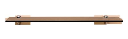 Fiora Series Glass Shelf: Bronze Glass