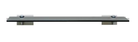 Fiora Series Glass Shelf: Gray Glass