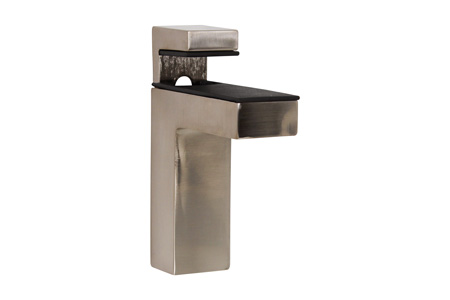 Large Deco Brushed Nickel Shelf Bracket | Dulles Glass and Mirror