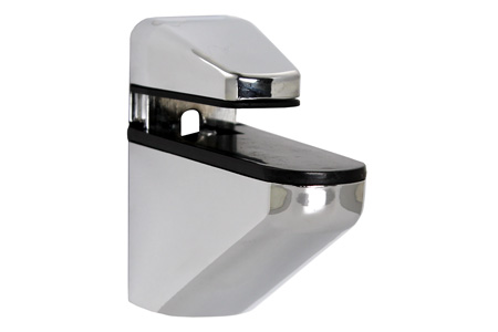 Small Nouveau Chrome Shelf Bracket