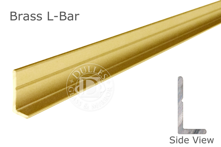"""98"""" Brass L-Bar 5/8"""" Face Height"""