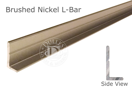 "98"" Brushed Nickel L-Bar 5/8"" Face Height"