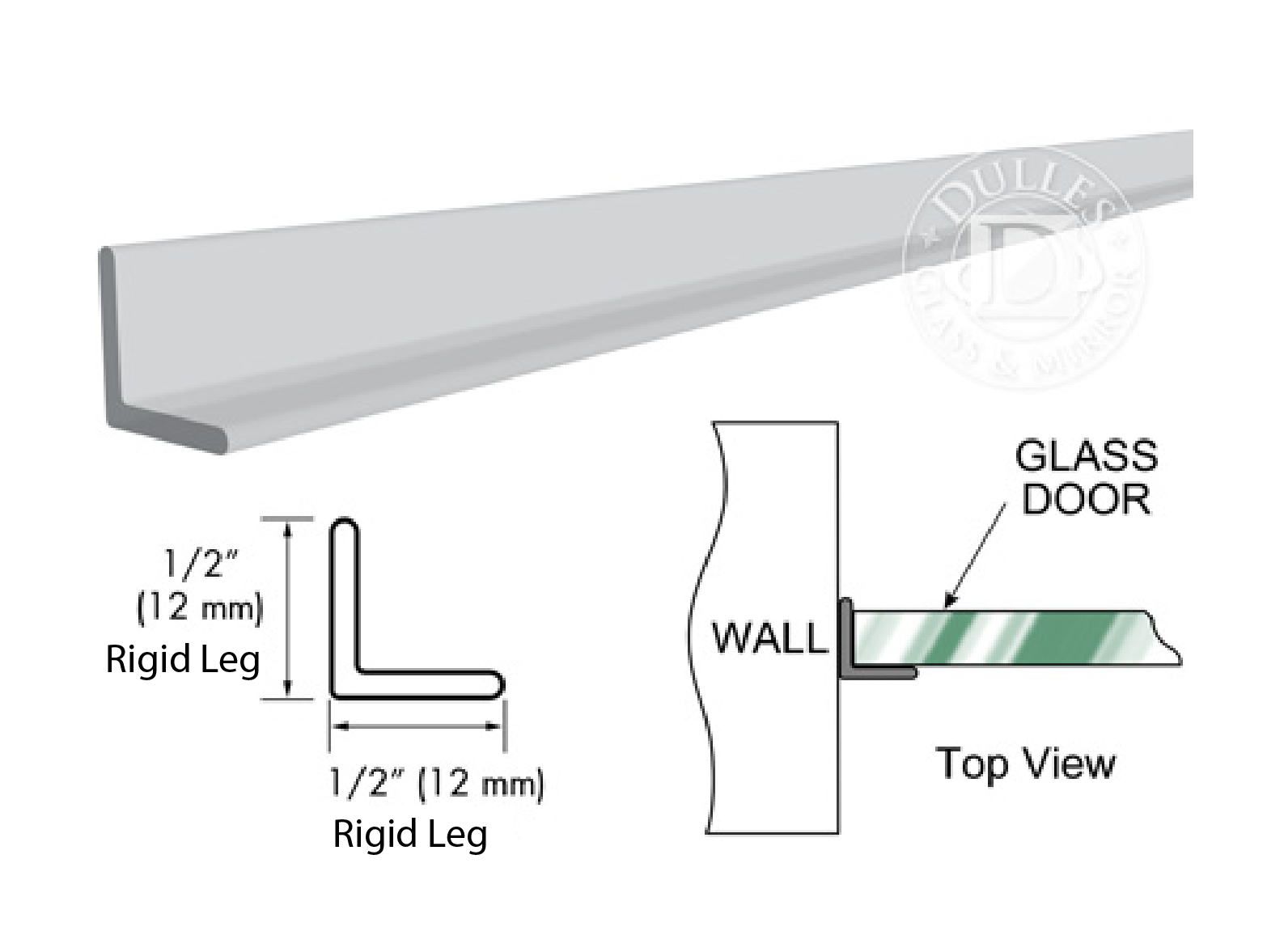 95 Clear Strike Angle Jamb with Clear Double Tape