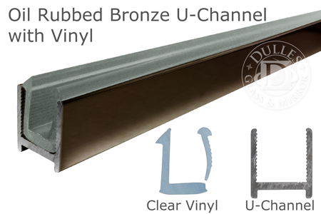 98 Oil Rubbed Bronze Dry Glaze U-Channel with Clear Vinyl