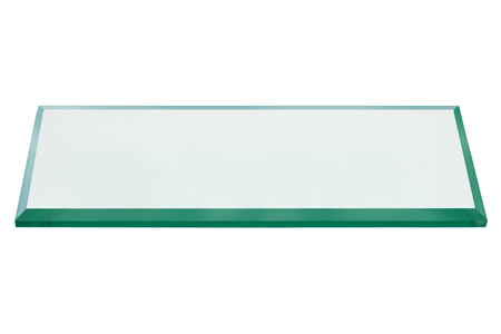 30x60 Inch Rectangle Glass Table Top, 1/4 Inch Thick, Bevel Polished Edge, Radius Corners, Tempered