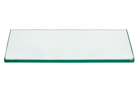 36x48 Inch Rectangle Glass Table Top, 1/4 Inch Thick, Flat Polished Edge, Eased Corners, Tempered