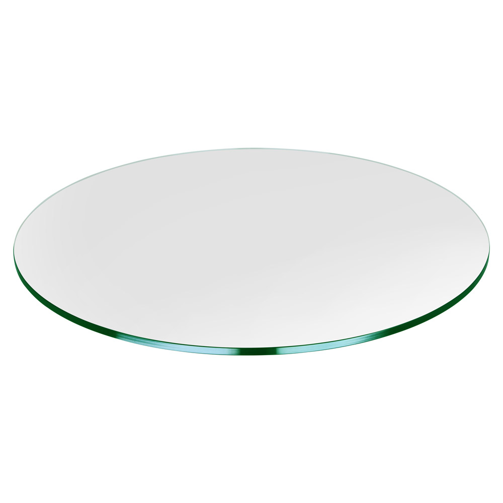 "37"" Round Glass Table Top, 1/4"" Thick, Flat Polished, Tempered"