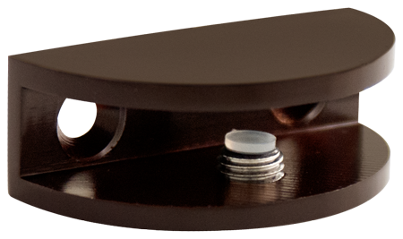 Oil Rubbed Bronze Rounded Glass Shelf Bracket