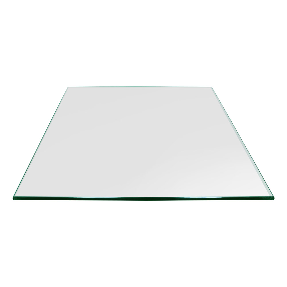 30 Inch Square Glass Table Top, 3/8 Inch Thick, Pencil Polished, Eased Corners, Tempered