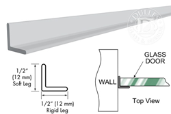 "98"" Clear Strike Angle Jamb with Clear Double Tape"