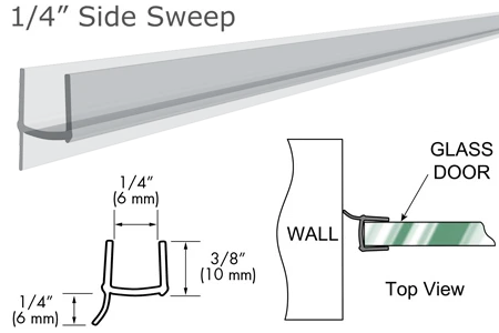 "95"" Clear PVC Seal and Wipe for 1/4"" Glass"